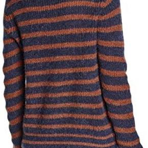 Strikken er blevet brugt 2-3 gange. Den er højhalset og varm :)   sweater hedder:Second Female Women's Ealine Knit T-Neck Jumper