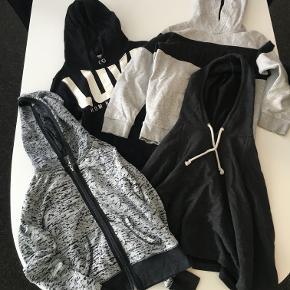 Tøjpakke med 4 Hoodies til piger på 8-10 år (134/140) Fra H&M og Guess