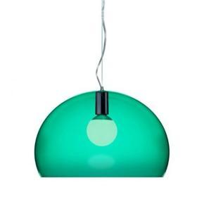 Stor flot kartell fly lampe. Kun brugt kort tid, har få ridser men stadig rigtig flot. Farven er emerald green  Kan ikke sendes, men kommer ca til København en gang om måneden.
