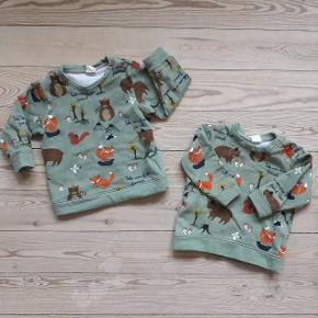 Sweatshirt fra H&m Baby med motiv af skovens dyr. 2 stk. i hhv. str. 74 og 80. Begge i meget pæn stand, kun brugt 1-2 gange hver. Sælges for 40 kr. stykket (plus porto)