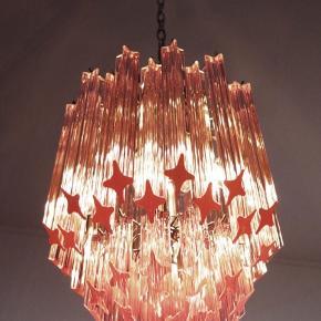 Utrolig flot Murano lampe fra Italien. Med 52 krystal glas 'prismer'. Ingen skår og flot vintagestand.   Sender gerne 💓💌