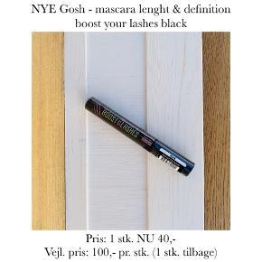 NYE Gosh - mascara lenght & definition boost your lashes black  Pris: 1 stk. NU 40,-  Vejl. pris: 100,- pr. stk. (1 stk. tilbage)   Se også over 200 andre nye produkter, som jeg har til salg herinde :-)