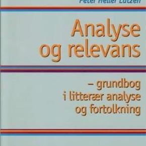 Analyse og relevans  1. udgave, 6. oplag  Ny pris: 350,- Din pris: 200,-  Har andre bøger til salg, som bruges på læreruddannelsen KLM og dansk.   Køber betaler porto (40,- DAO) eller kan medbringes til Hobro eller Aars.