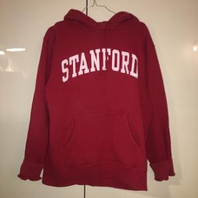 Rød Stanford hoodie med hvis skrift Boyfriend fit, en herre str M