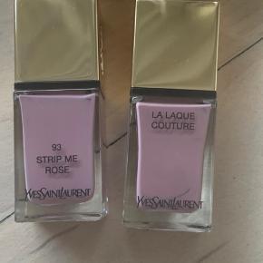 To nude neglelakker - Yves Saint Laurent La Laque Couture i farverne:  120 Beige Aventureux  og  93 Strip me rose  Fejlkøb. Aldrig brugt. Prisen er pr. stk.