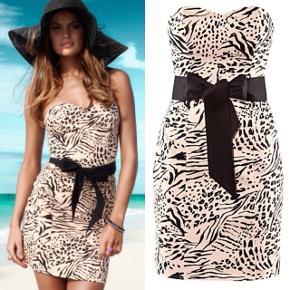 Figursyet festkjole med leopard print og bindebånd i taljen fra H&M. Str. 36. Aldrig brugt. Nypris 300 kr. Byd ☀️