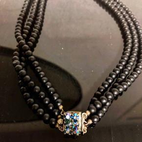 Smuk vintage halskæde   Vintage - sort - halskæde - antik