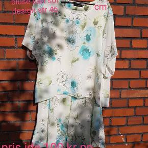 Fint sæt fra sol design str 46 nederdel og bluse Næsten ikke brugt  Pris ide 100 kr pp for sættet  Har hund så hundehår kan forekomme