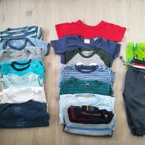 Blandet tøjpakke m. to huer.  Str 62-74-80-86-92  Ialt 36 dele  Metoo Hogm Adidas ZARA baby VRS LUPILU Mads og Mette Friends Next baby Fixoni  NSN og GMB.