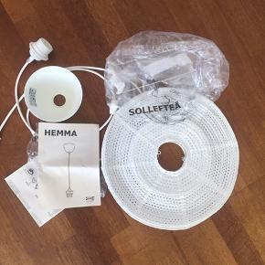 IKEA Sollefteå loftslampeskærm  Nypris: 39kr  Hemma ophæng Nypris: 30kr   Sælges samlet for 30kr