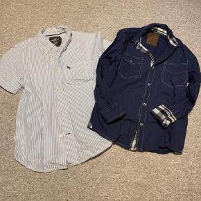 2 gode skjorter evt til julens fester Den mørkeblå er fra DWG Den lyseblå er fra H&M