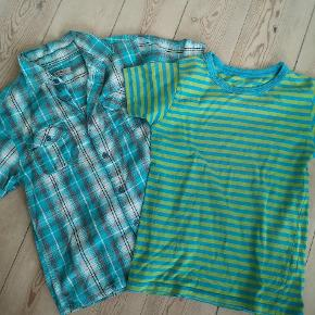 2 x søde ting:* skjorte og t-shirt til dreng str. 122 og 134 cm.  10 kr pr. DEL. SE ØVRIGT MIN PROFIL FOR MERE DRENGETØJ Kan hentes i århus midtby