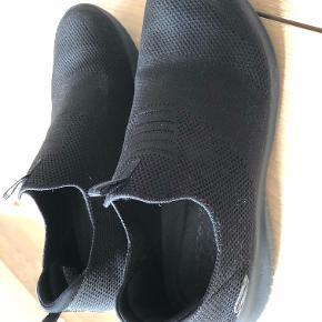Der er ikke prismærke på, men de er kun prøvet. det er et fejlkøb. hvorfor det ser ud som om de er brugt på mærket i skoen ved jeg ikke - men de er aldrig brugt.