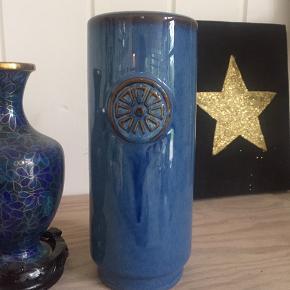 Søholm vase i fineste blå farve  H 20 cm Ø 8 cm