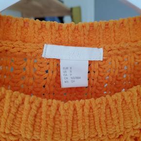 Orange striktrøje fra H&M - Afhentes i Århus C