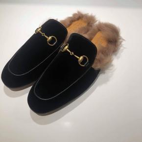 Gucci Velvet Fur Pricetown Slippers Cond 10/10 - Har box, dustbag og kvittering  3600,- fast pris