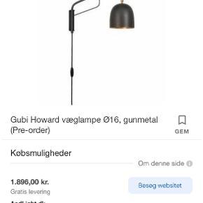 Gubi væglampe