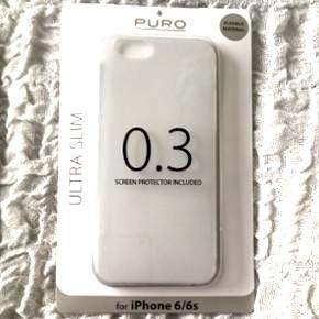 Cover, bumper. Puro 0.3 cover til iPhone  6/6sNp 150kr