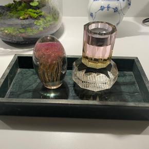 Marmor fad, rigtig fin til opbevaring af smykker, makeup, lys mm