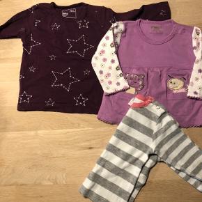 Mange dele til den lille pige fra str 50-86. Bodystockings, kjoler, bukser, heldragter mm. Sælges for 300 kr