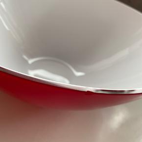 Holmegaard stor cocoon skål med lille flig i kanten