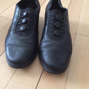 Læder sko Brugt en gang