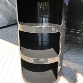 Kartell Componibili Opbevaring 3-rum Mål: H58,5 x Ø32 cm Farve: Sort Med brugsspor