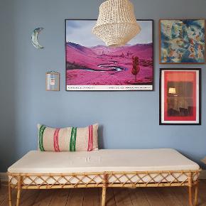 Smukkeste vintage bambus daybed med speciallavet madras.  Betrukket med 100% kraftigt økologisk bomuld. Madras følger med.
