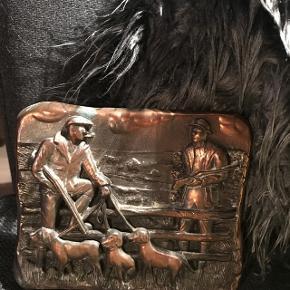 Gammel antik bronze relief 18 x 14                                   250kr mp   Randers nv ofte Århus Ålborg København mm Sender gerne på købers regning   Til salg på flere sider