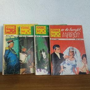 Young love. Gamle kærligheds tegneserier fra 70erne og 80erne.  Kr 10 pr stk