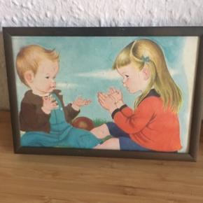 Billede af børn  i ramme  -fast pris -køb 4 annoncer og den billigste er gratis - kan afhentes på Mimersgade 111 - sender gerne hvis du betaler Porto - mødes ikke andre steder - bytter ikke