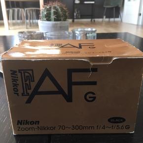 Kameralinse Nikon. Zoom-Nikkor 70-300mm f/4-f/5 6G.