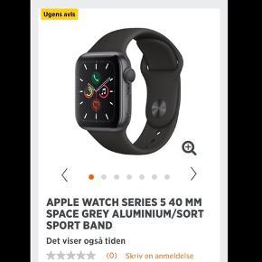 Helt nyt Apple Watch serie 5. Alt medfølger inkl original emballage og kvittering med 2 års garanti. Købt i starten af Oktober. Sælges da det ikke bliver brugt nok.