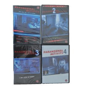 Paranormal Activity 1-4 - Aldrig åbnet!  100kr ialt for ALLE fire film.   Kom gerne med et bud!  Sender gerne - dog på købers egen regning.  #SE MINE MANGE ANDRE ANNONCER#
