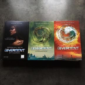 Divergent trilogien i hardback. Som ny, kun læst en en enkelt gang. 75kr pr stk eller 200kr samlet.