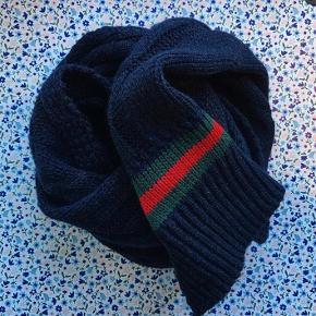Gucci navy uld lang tørklæde