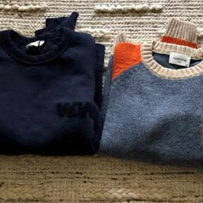 Wood wood sweatshirt and wool sweater. One for 450, both for 800