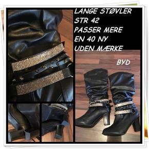 Lange støvler str 42 passer mere en 40 ny uden mærke byd