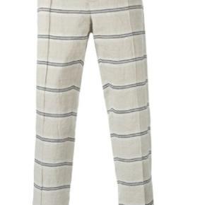 Hør jakkesætsbukser/suitpants. De er aldrig brugt, men mangler størrelsesmærkat. Det er en str. L/ 32.  Kom med et gerne med et bud. OBS har også matchende blazer til salg.