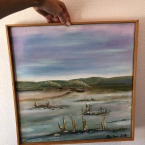 Fint maleri sælges. I tynd træramme. Skal afhentes, enten i 8960 Randers SØ eller 8200 Aarhus N 💛