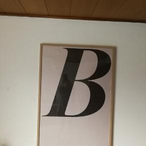 Plakat 70 x 100 cm inkl ramme med egetræs mønster
