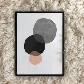 Billede med sort ramme.   42x30