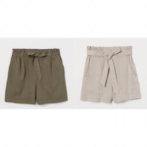 Helt nye shorts med prismærke. Sælges fordi jeg desværre lige præcis er gået over de 14 dages returret  Mørkegrønne og beige. Lækkert blødt og miljøvenligt lyocell stof  100kr pr par