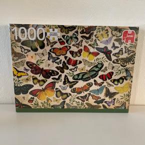 Jumbo puslespil 1000 brikker. Helt nyt stadig pakket ind. Motiv: sommerfugle collage.