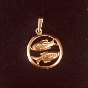 8 karat guld vedhæng -fiskens stjernetegn