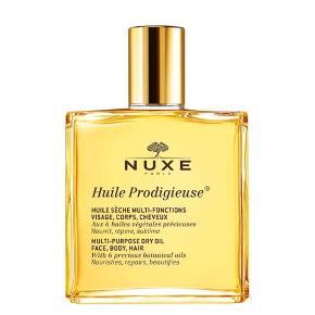 """Købt i Marts - Brugt 2-3 gange.  Sælges da jeg ikke får den brugt.  """"Multifunktionel tør olie til ansigt, krop og hår. Nærer, reparerer, beskytter og blødgør med en koncentration af særlige planteolier og E-vitamin. Påføres ansigtet i stedet for dagcreme, i håret som nærende maske inden shampooen og på hele kroppen med særlig fokus på strækmærker. Ingen konserveringsmidler eller silikone. Resultat: Satinblød hud og silkeblødt hår. Uden parabener. 100 ml. spray flakon.""""  Nypris: 175 kr.  Fast pris. - Sender ikke.  Betaling: kontant el. MobilePay.  Bytter ikke.  ANNONCEN SLETTES NÅR VAREN ER SOLGT, så kan du se dén, er varen ikke solgt.  *Useriøse henvendelser ryger videre til support*"""