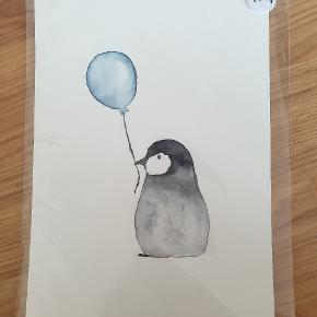 Eget design, akvarel, A5