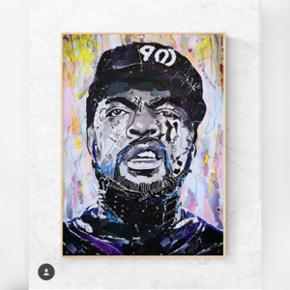 Art by Bisse. Collagekunst. Sælges som print i lækkert 170 g. papir. (uden ramme)  300 kr. for afhentning i Århus/330 kr. inkl fragt. Ice Cube poster A2. (420x594 mm)   Følg gerne min instagram artbybisse, som bliver opdateret løbende. 🙂  http://www.facebook.com/artbybisse  Streetart, graffiti, hiphop