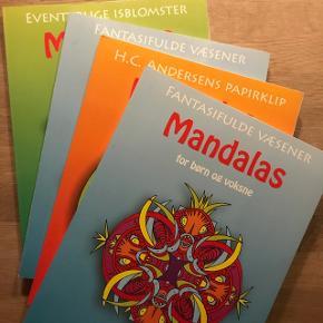 Sælger disse 4 mandalas tegnebøger til både børn og voksne. De er i god stand og kun brugt få gange (der er selvfølgelig kun ufarvelagte sider i).Jeg sælger dem for 30kr pr. Stk og 100kr for alle 4 bøger.  OBS: der er 2 af samme bog (fantasifulde væsener)