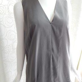 Bluse Top str M, grå, silkemix, brugt 1-2 gange, som ny